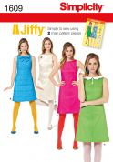 Simplicity Ladies Easy Sewing Pattern 1609 Vintage Style Two Piece Dresses
