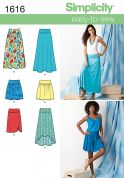 Simplicity Ladies Easy Sewing Pattern 1616 Summer Skirts