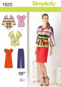 Simplicity Ladies Sewing Pattern 1620 Tops, Dress, Jacket & Pants