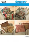 Simplicity Homeware Easy Sewing Pattern 1633 Decorative Pillows & Cushions