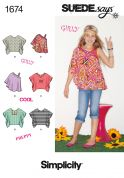 Simplicity Childrens Sewing Pattern 1674 Drape Tops