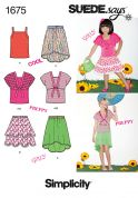 Simplicity Childrens Easy Sewing Pattern 1675 Summer Tops & Skirts