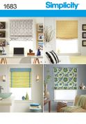 Simplicity Homeware Sewing Pattern 1683 Roman Blind Shades in 4 Styles