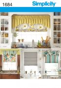 Simplicity Homeware Sewing Pattern 1684 Roman Blind Shades & Valances