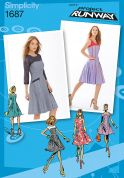 Simplicity Ladies Sewing Pattern 1687 Fit & Flare Dresses