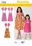 Simplicity Childrens Sewing Pattern 1703 Summer Dresses & Boleros