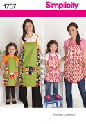 Simplicity Ladies & Girls Easy Sewing Pattern 1707 Matching Aprons