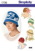 Simplicity Ladies Easy Sewing Pattern 1736 Hats in 5 Variations