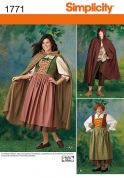 Simplicity Mens & Ladies Sewing Pattern 1771 Medieval Fancy Dress Costumes