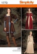 Simplicity Ladies Sewing Pattern 1773 Medieval Fancy Dress Costumes