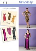 Simplicity Ladies Sewing Pattern 1778 Day & Evening Dresses