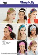 Simplicity Ladies Accessories Easy Sewing Pattern 1791 Headbands & Hair Accessories
