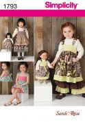 Simplicity Childrens & Dolls Sewing Pattern 1793 Matching Dresses, Pants & Shorts