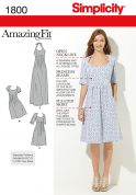 Simplicity Ladies Sewing Pattern 1800 Open Neckline Dresses