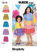 Simplicity Childrens Easy Sewing Pattern 1816 Fancy Skirts