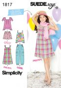 Simplicity Childrens Sewing Pattern 1817 Tops, Dresses, Shorts & Pants
