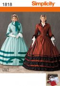 Simplicity Ladies Sewing Pattern 1818 Civil War Elegant Dresses Costumes