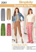 Simplicity Ladies Easy Learn to Sew Sewing Pattern 2061 Trouser Pants
