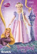 Simplicity Childrens Sewing Pattern 2065 Disney Tangled Rapunzel Dress Costume