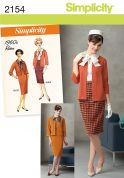 Simplicity Ladies Sewing Pattern 2154 Vintage Style 1960's Suit