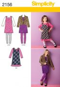 Simplicity Childrens Easy Sewing Pattern 2156 Dresses, Jackets & Leggings