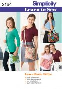 Simplicity Accessories Easy Learn to Sew Sewing Pattern 2164 Bags