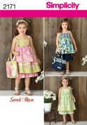 Simplicity Childrens Sewing Pattern 2171 Dress, Top, Pants, Bag & Hair Accessory