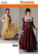 Simplicity Ladies Sewing Pattern 2172 Victorian Era Coat, Skirt & Bustier Costume