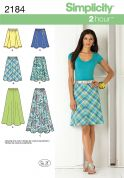 Simplicity Ladies Easy Sewing Pattern 2184 Flared & Gored Skirts