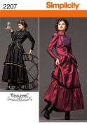 Simplicity Ladies Sewing Pattern 2207 Steampunk Victorian Era Costumes
