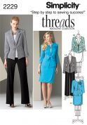 Simplicity Ladies Sewing Pattern 2229 Jacket, Skirt & Trouser Suit