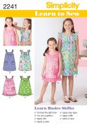 Simplicity Childrens Easy Learn to Sew Sewing Pattern 2241 Dresses