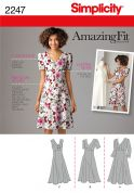 Simplicity Ladies Sewing Pattern 2247 V Neck Empire Seam Dresses