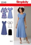 Simplicity Ladies Sewing Pattern 2249 Dresses, Tunic Top & Skirt