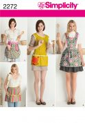 Simplicity Ladies Easy Sewing Pattern 2272 Aprons