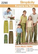 Simplicity Family Easy Learn to Sew Sewing Pattern 2290 Pyjama Pants