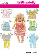 "Simplicity Crafts Sewing Pattern 2296 18"" Doll Clothes"