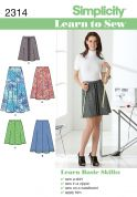 Simplicity Ladies Easy Learn to Sew Sewing Pattern 2314 Skirts
