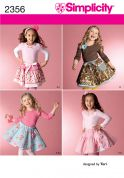 Simplicity Childrens Sewing Pattern 2356 Skirts, Slips & Hair Accessories