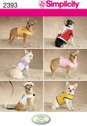 Simplicity Pets Sewing Pattern 2393 Fancy Coats for Small Dogs