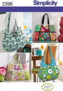 Simplicity Accessories Easy Sewing Pattern 2396 Tote Bags