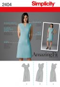 Simplicity Ladies Sewing Pattern 2404 Raised Waistline Seam Dresses