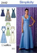 Simplicity Ladies Sewing Pattern 2442 Special Occasion Dresses & Boleros