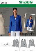 Simplicity Ladies Sewing Pattern 2446 Fitted Jackets with Lapels