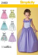 Simplicity Childrens Sewing Pattern 2463 Special Occasion Dresses