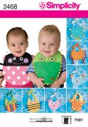 Simplicity Baby Easy Sewing Pattern 2468 Fun Novelty Bibs