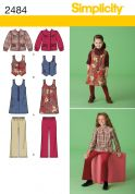 Simplicity Childrens Sewing Pattern 2484 Dress, Waistcoat, Jacket & Cropped Pants