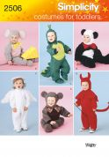 Simplicity Childrens Sewing Pattern 2506 Animal Fancy Dress Costumes