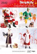 Simplicity Ladies & Men's Sewing Pattern 2542 Christmas Fancy Dress Costumes