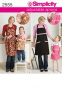 Simplicity Ladies & Girls Easy Sewing Pattern 2555 Adjustable Matching Aprons